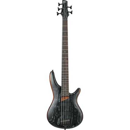 Ibanez SR675 SR Standard Series 5-String Electric Bass (Silver Wave Black Flat)