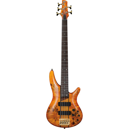 Ibanez SR Series - SR805 - 5-String Electric Bass Guitar (Amber)