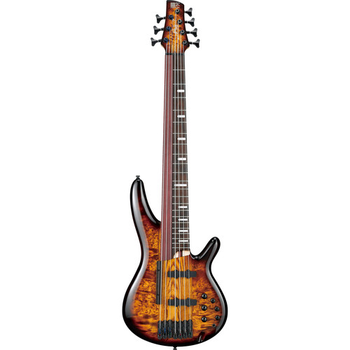 Ibanez SRAS7 - Bass Workshop Series - 7-String Electric Bass Guitar (Dragon Eye Burst)