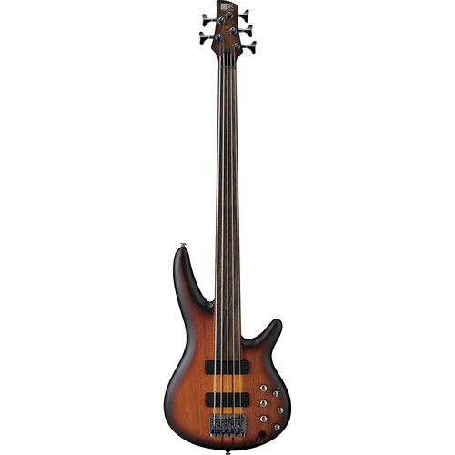 Ibanez SR Series SRF705 Bass Workshop 5-String Fretless Electric Bass Guitar (Brown Burst Flat)