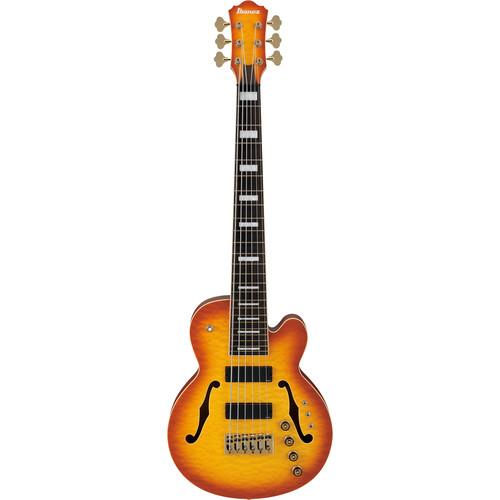 "Ibanez TCB1006 Stephen ""Thundercat"" Bruner Signature Series 6-String Electric Bass Guitar (Autumn Leaf Burst Matte)"
