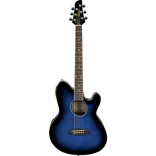 Ibanez TCY10E Talman Series Acoustic/Electric Guitar (Transparent Blue Sunburst)