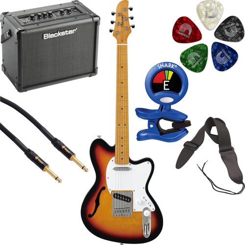 Ibanez TM203HM Talman Standard Semi-Hollow Electric Guitarist's Starter Kit (Tri-Fade Burst)