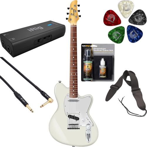 Ibanez TM302 Talman Standard Series Electric Guitar Starter Recording Kit (Ivory)