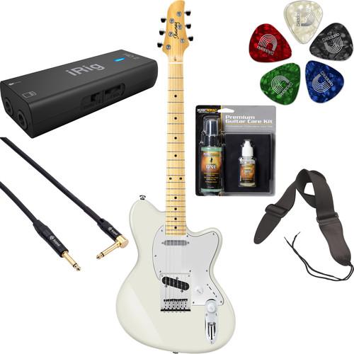 Ibanez TM302M Talman Standard Series Electric Guitar Starter Recording Kit (Ivory)
