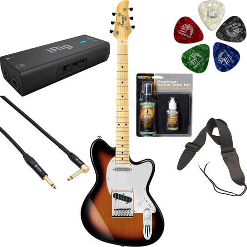 Ibanez TM302M Talman Standard Series Electric Guitar Starter Recording Kit (Tri Fade Burst)
