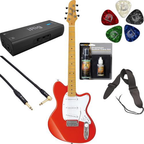 Ibanez TM330M Talman Standard Series Electric Guitar Starter Recording Kit (Antique Red)