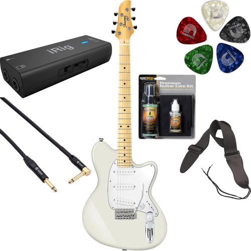 Ibanez TM330M Talman Standard Series Electric Guitar Starter Recording Kit (Ivory)