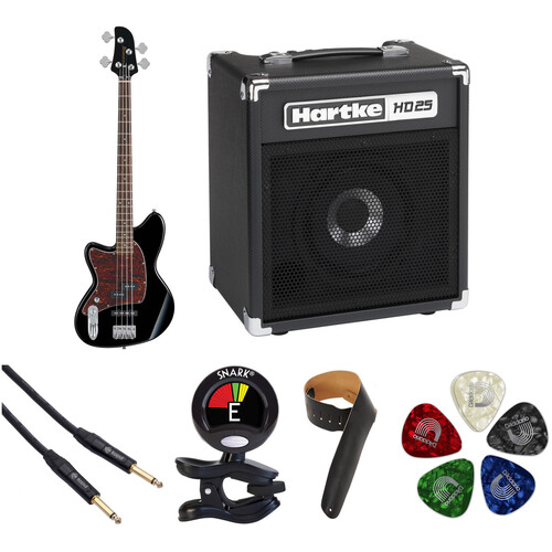 Ibanez TMB100L Talman Bass Standard Series Electric Bass Guitar Starter Kit (Left-Handed, Black)