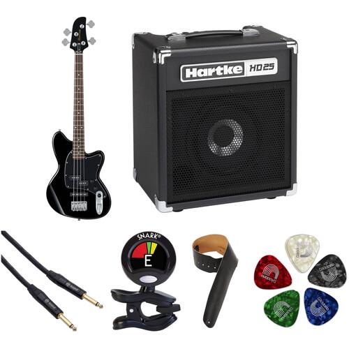 Ibanez TMB30 Talman Bass Standard Series Electric Bass Guitar Starter Kit (Black)