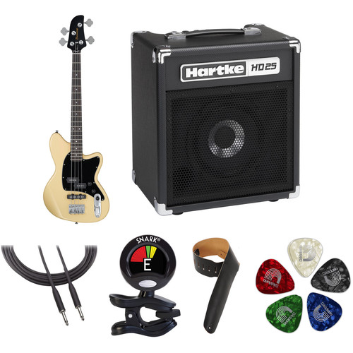Ibanez TMB30 Talman Bass Standard Series Electric Bass Guitar Starter Kit (Ivory)