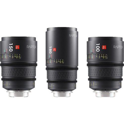 IBE OPTICS Raptor FF Macro Prime 3-Lens Kit with Lens Case (PL Mount)