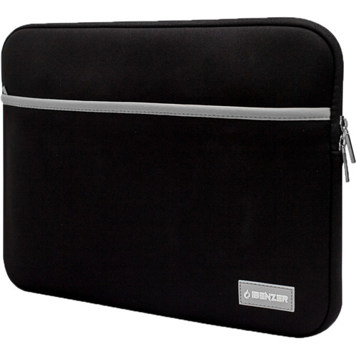 """iBenzer 13.3"""" Neoprene Protective Laptop Sleeve with Accessory Pocket (Black)"""