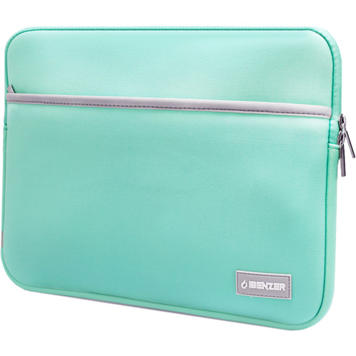 """iBenzer 13.3"""" Neoprene Protective Laptop Sleeve with Accessory Pocket (Turquoise)"""