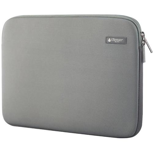 "iBenzer 13.3"" Deluxe Neoprene Laptop Sleeve Bag Case for MacBook Pro/Air/Retina 13"" (Gray)"