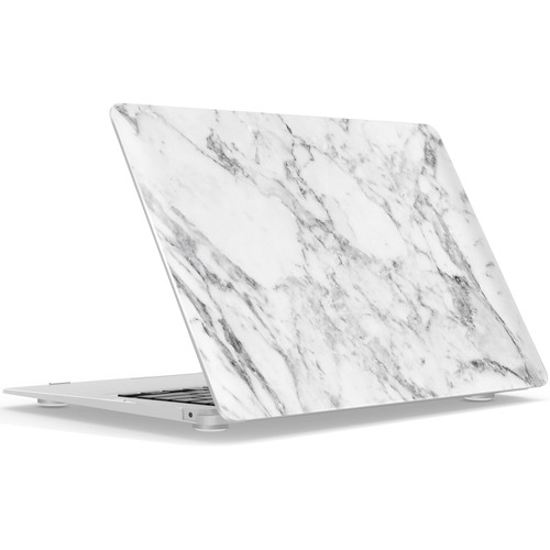"""iBenzer Hard Shell Case for MacBook Air 13"""" (White Marble)"""