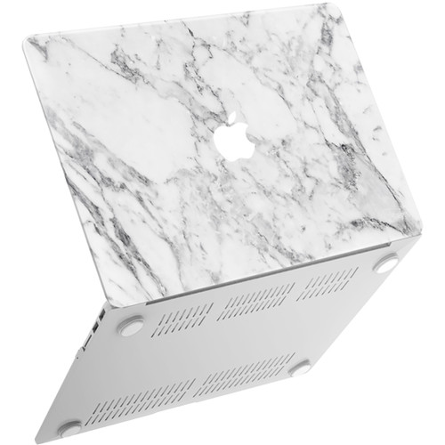 "iBenzer Neon Party MacBook Air 13"" Case (White Marble)"