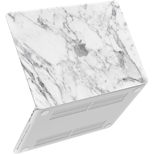 """iBenzer Neon Party MacBook Pro 13"""" Touch Bar & Non-Touch Bar Case (White Marble)"""