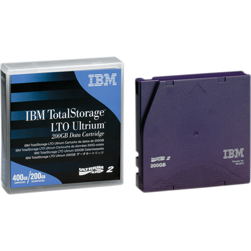 IBM 08L9870 TotalStorage LTO Ultrium 2 Data Cartridge (200/400GB)
