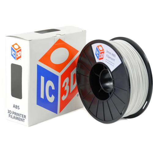 IC3D Industries 3mm ABS Filament (1kg, White)