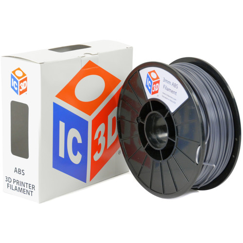IC3D Industries 3mm ABS Filament (1kg, Gray)