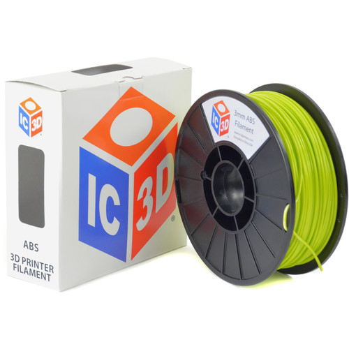 IC3D Industries 3mm ABS Filament (1kg, LulzBot Green)