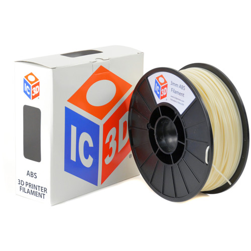 IC3D Industries 3mm ABS Filament (1kg, Natural)