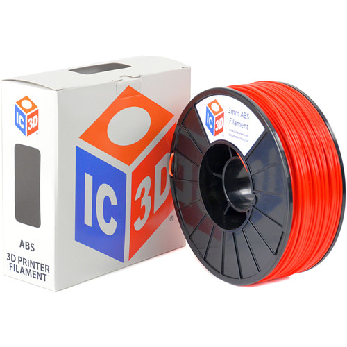 IC3D Industries 3mm ABS Filament (1kg, Red)