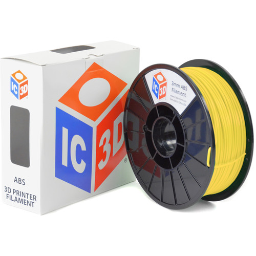 IC3D Industries 3mm ABS Filament (1kg, Yellow)