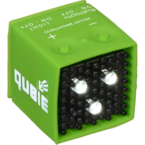 IC One Two The Qubie - Bluetooth Micro LED Strobe and Video Light (Green)