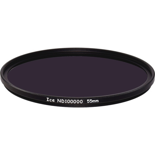 Ice 55mm ND100000 Solid Neutral Density 5.0 Filter (16.5-Stop)