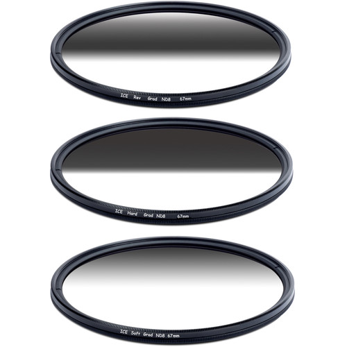 Ice 67mm Soft-Edge Graduated, Hard-Edge Graduated, and Reverse-Graduated Neutral Density Filter Kits (3-Stop)