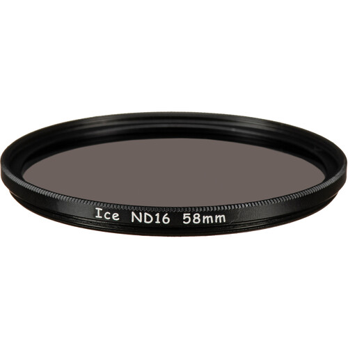 Ice 58mm ND16 Solid Neutral Density 1.2 Filter (4-Stop)