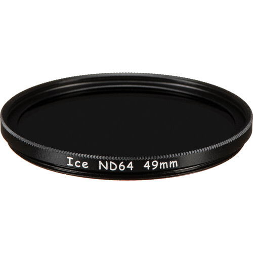 Ice 49mm ND64 Solid Neutral Density 1.8 Filter (6-Stop)