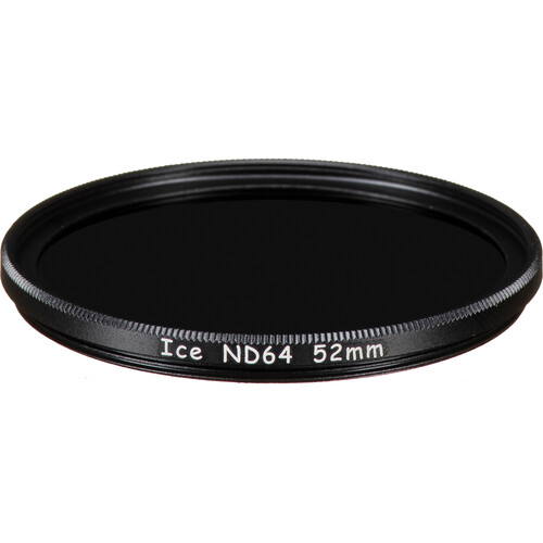 Ice 52mm ND64 Solid Neutral Density 1.8 Filter (6-Stop)