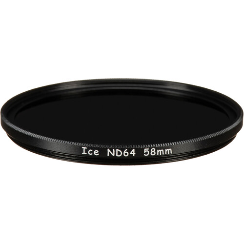 Ice 58mm ND64 Solid Neutral Density 1.8 Filter (6-Stop)
