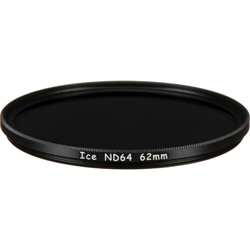 Ice 62mm ND64 Solid Neutral Density 1.8 Filter (6-Stop)