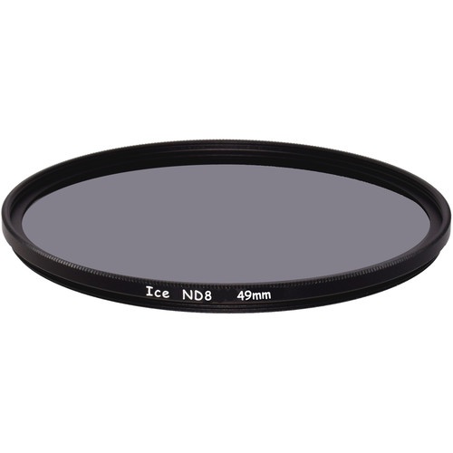 Ice 49mm ND8 Solid Neutral Density 0.9 Filter (3-Stop)