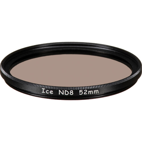 Ice 52mm ND8 Solid Neutral Density 0.9 Filter (3-Stop)