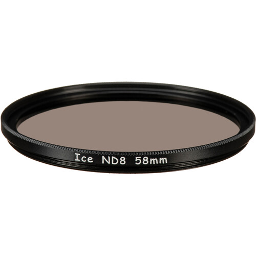 Ice 58mm ND8 Solid Neutral Density 0.9 Filter (3-Stop)