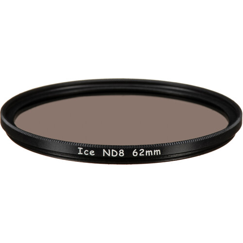 Ice 62mm ND8 Solid Neutral Density 0.9 Filter (3-Stop)