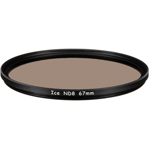Ice 67mm ND8 Solid Neutral Density 0.9 Filter (3-Stop)