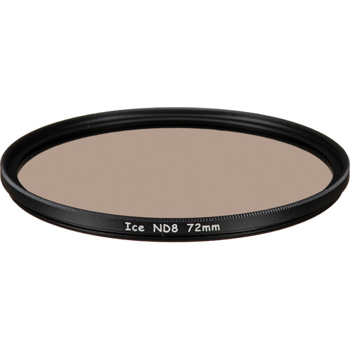 Ice 72mm ND8 Solid Neutral Density 0.9 Filter (3-Stop)