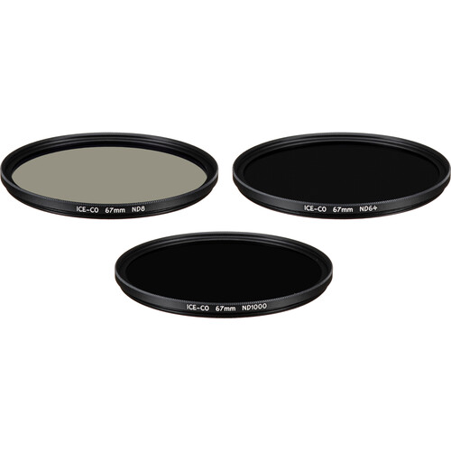 Ice 67mm ND8/ND64/ND1000(16-Layer /Hard Coated/Easy Clean) + Wallet/ Filter