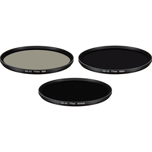 Ice 77mm CO ND8, ND64, and ND1000 Neutral Density Filter Kit (3, 6, and 10 Stops)