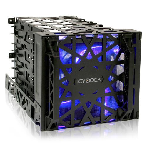 "Icy Dock Black Vortex 4-Bay 3.5"" Hard Drive Cooler Cage"