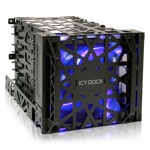 "Icy Dock Black Vortex 4-Bay 3.5"" Hard Drive Cooler Cage"