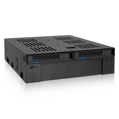 """Icy Dock MB322SP-B ExpressCage 2.5""""/3.5"""" to 5.25"""" Bay Adapter"""