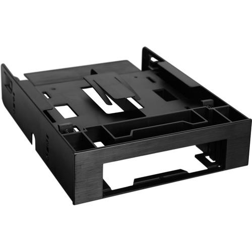 "Icy Dock FLEX-FIT Trio 2 x 2.5"" HDD/SSD to 5.25"" Bracket + 3.5"" Bay (Black)"
