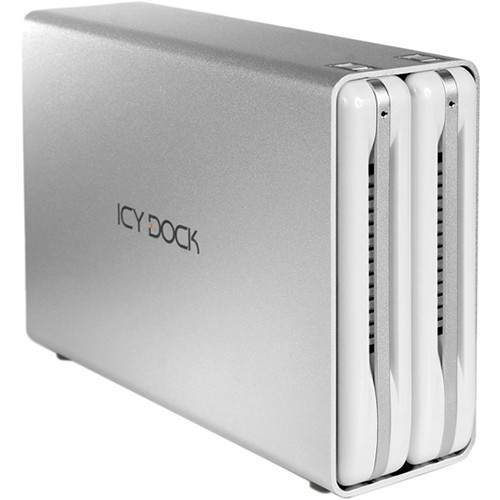 "Icy Dock ICYRaid MB662U3-2S 2-Bay USB 3.0 3.5"" SATA HDD RAID Enclosure (White)"